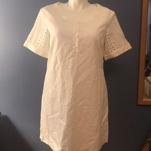 Vineyard Vines size 14 white cotton linen dress